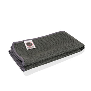 Wavex Waffle Weave Gray 70/30 Blend Microfiber Drying Towel, Highly Recommended for Glass Surfaces