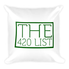 The 420 List Square Pillow