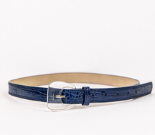 Load image into Gallery viewer, Croc Belt Navy