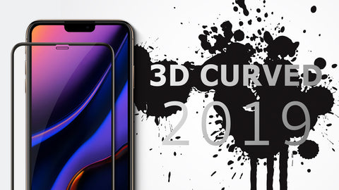 Vmax New 3D Curved Full Cover Premium Tempered Glass Screen Protector for All iPhone 11, iPhone XR, XS, X