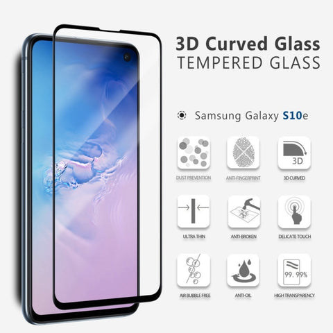 Vmax 3D Curved Full Cover Premium Tempered Glass Screen Protector for Samsung Phones