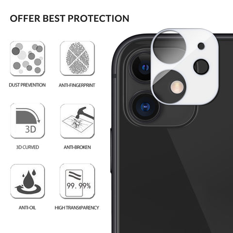 Vmax Camera Lens Tempered Glass Screen Protector for  iPhone 11 / Pro / Pro Max