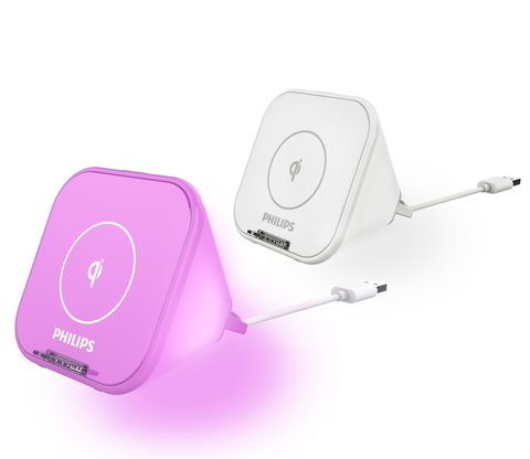 Philips 10W Qi Wireless Charger Stand with Motion Sensor LED Light