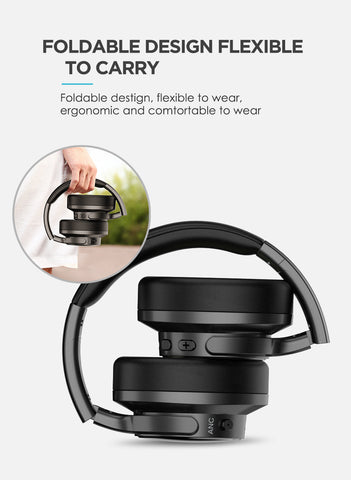 Mixcder E9 Wireless Active Noise Cancelling Headphones Foldable Headset