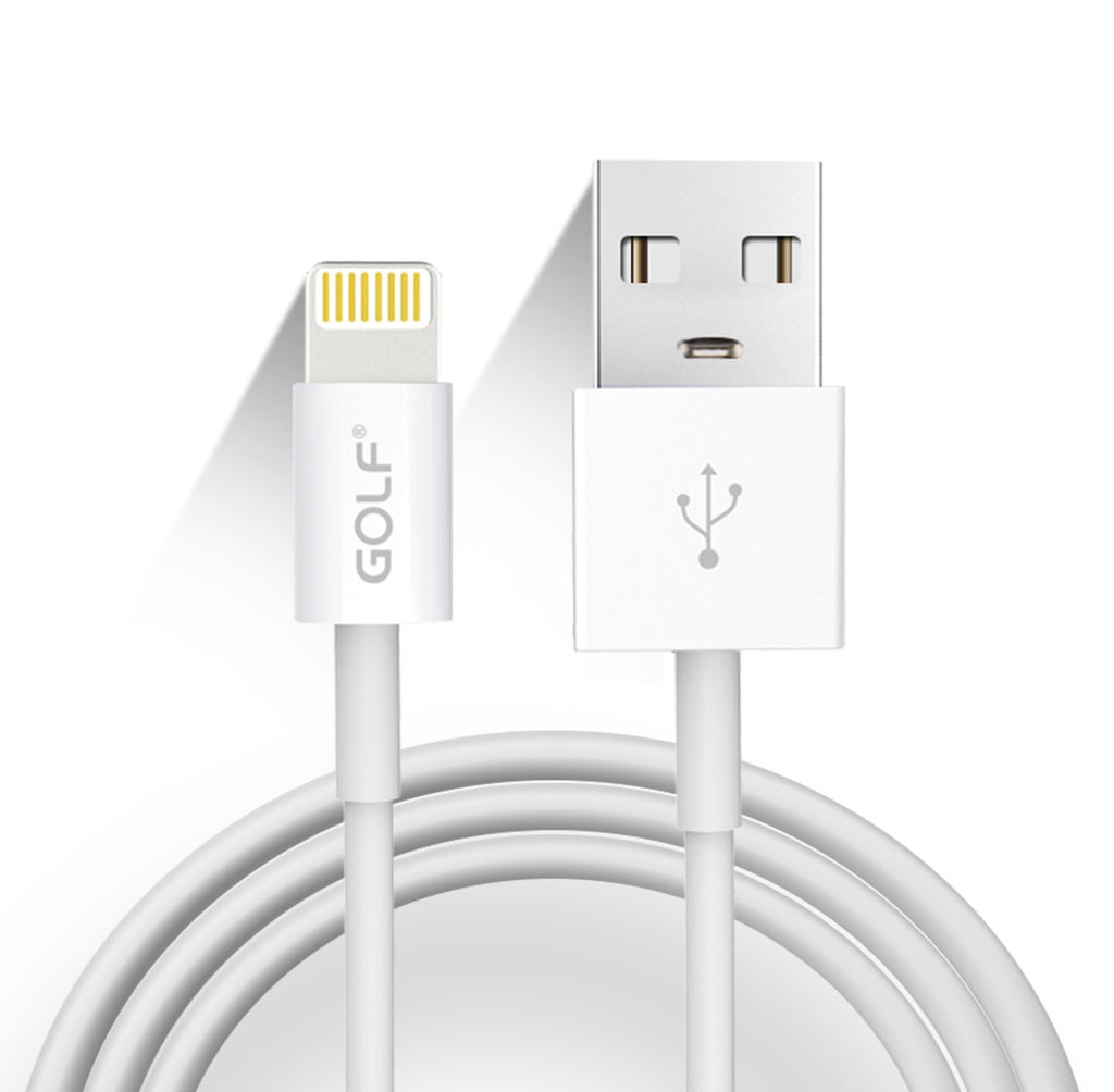 1m Lightning To USB Charging Data Cable GOLF GC-30 For iphone mobile phone