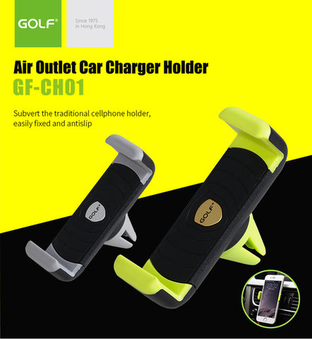Golf GF-CH01 Car Air Outlet Mount Stand Holder Black/Grey