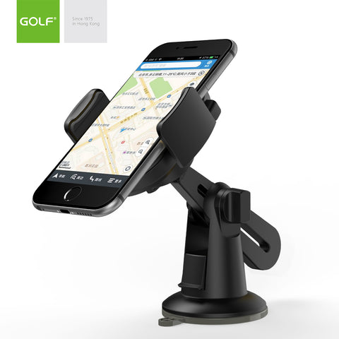 Golf Silicone Suction Cup 360° Car Holder Mount Cradle Stand for Mobile Phone