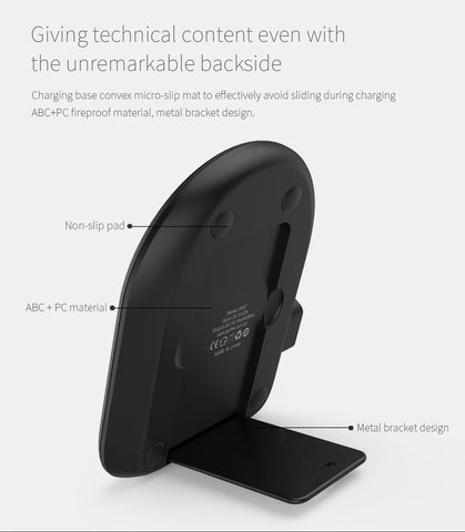 Golf WQ7 Single Coil Qi Wireless Charging Stand 1A 5W