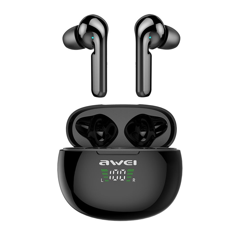 AWEI T15P TWS Earbuds Bluetooth Headphones Wireless Touch Control Gaming Earphone Waterproof IPX5 For Mobile Phone