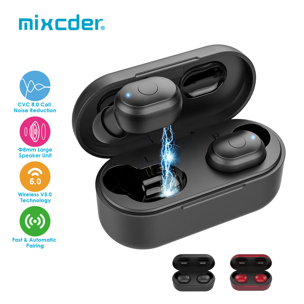 Mixcder T1 TWS Bluetooth Earbuds Wireless Earphones with Noise Cancelling Mic