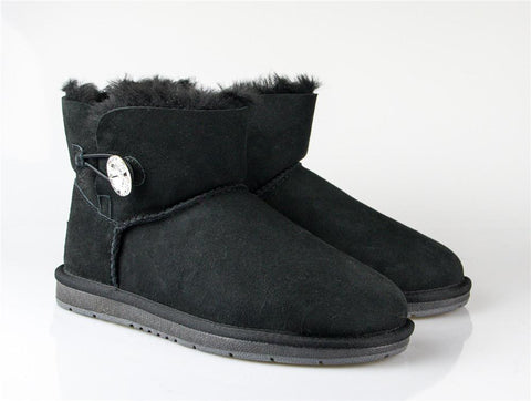 UGG Boots Australia Premium Double Face Sheepskin Mini Button with Crystal #511017