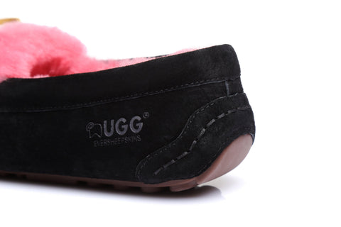 Ever UGG Ladies Fluffy Moccasin #11654