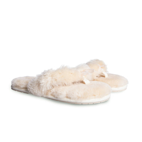 AS UGG Women Fluffy Slides Thongs Cinderella #15639