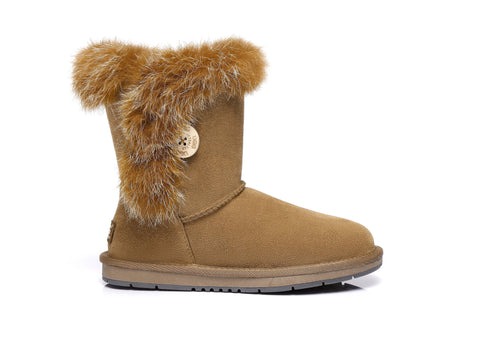 AS UGG Short Button Boots Donna #521009