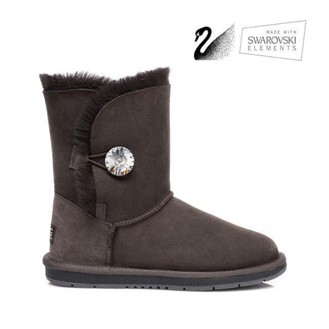 UGG Boots Australian Genuine Sheepskin Short button with Crystal #511018
