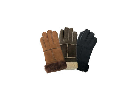 UGG Stiching Gloves With Suede #518005