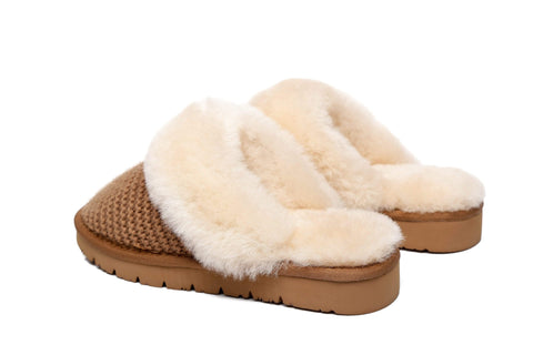 AS UGG Women Sheepskin Wool Slipper Linden
