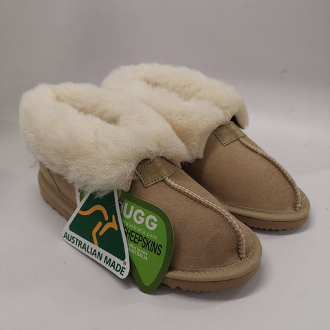 Australian Made Wool Collar Slipper #113016