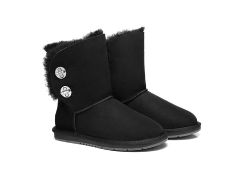 Australian Shepherd UGG Boots Metal Turn Button with Crystal Short Layton, Diamond Boots