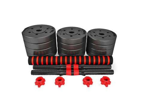 Adjustable Rubber Dumbbell Set