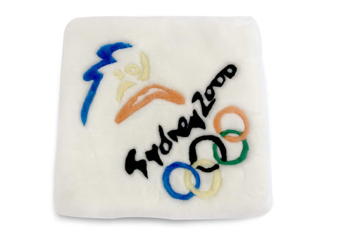 Sydney Olympic Pattern Seat Pad Sheepskin Seat Cover Cushion