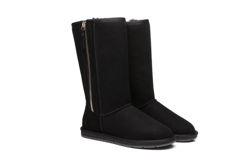 UGG Boots Australia Premium Double Face Sheepski Tall Side Zip,Water Resistant #15984