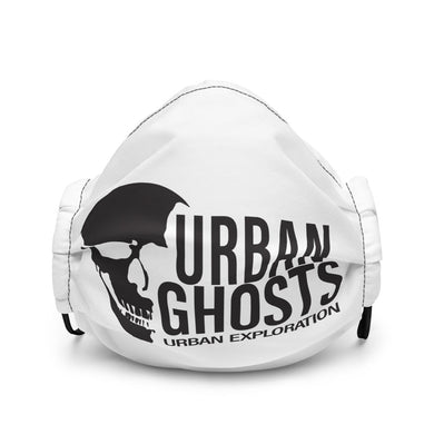 Urban Ghosts Logo Premium face mask - White