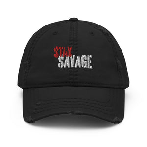 Stay Savage Logo Distressed Dad Hat (3 Colors)