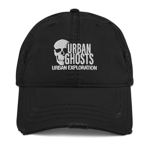 Urban Ghosts Logo Distressed Dad Hat (3 Colors)