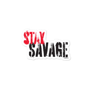 Stay Savage Logo Stickers