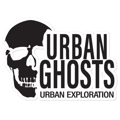 Urban Ghosts Black Logo Sticker