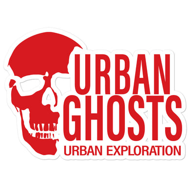 Urban Ghosts Red Logo Sticker