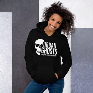 Urban Ghosts White Logo Hoodie - Unisex (10 Colors)