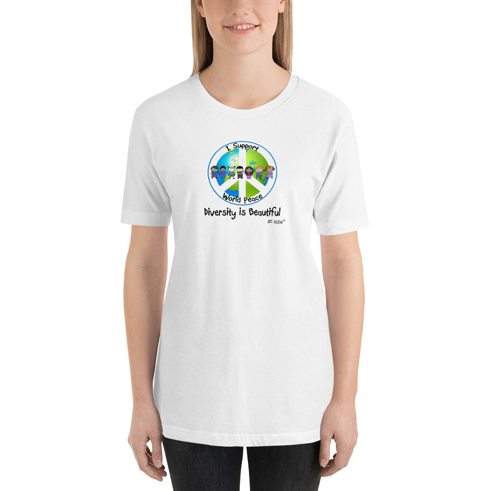 I support world Peace Unisex Tee Shirt