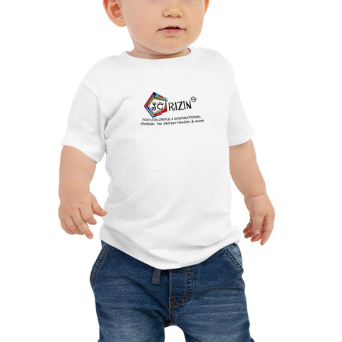 "JC Rizin brand ""Logo"" Baby T-Shirt. Available in 2 light colors."