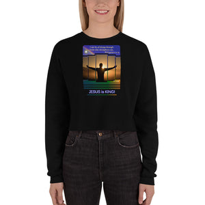 I can do all things through Christ... Philippians 4:13. Women's Crop Sweatshirt. Available in 6 colors.