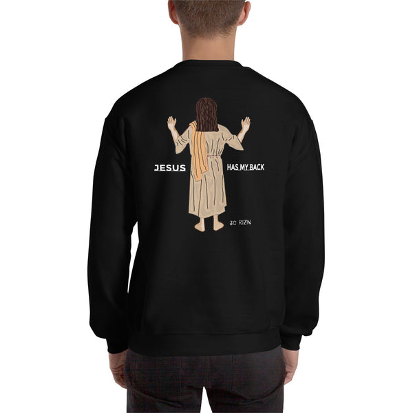 It's all good. Jesus has my back. Men's Sweatshirt. Comes in 4 dark colors.