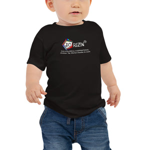 "JC Rizin brand ""Logo"" Baby T-Shirt. Available in 2 dark colors."