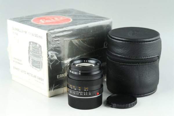 Leica Leitz Summilux 50mm F/1.4 Lens for Leica M With Box #18728 F2