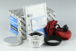 Konica Hexanon 35mm F/2 Lens for Leica L39 With Box #20941 F2