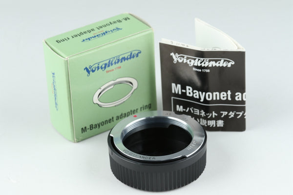 Voigtlander M-Bayonet Adapter Ring With Box #19782F3