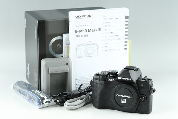 Olympus E-M10 Mark III Digital SLR Camera With Box #18857
