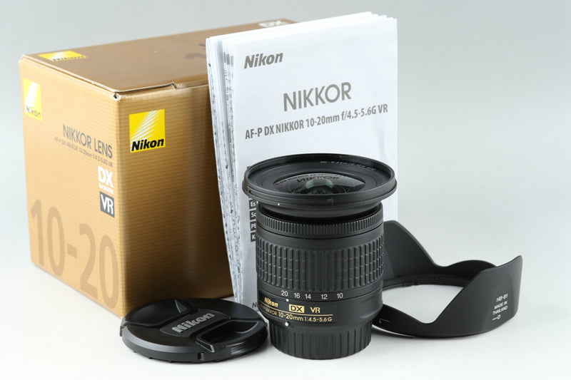 Nikon AF-P DX Nikkor 10-20mm F/4.5-5.6 G VR Lens With Box #20783