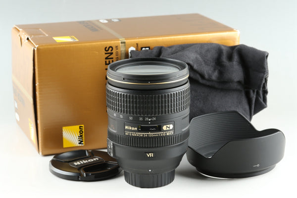 Nikon AF-S Nikkor 24-120mm F/4 G ED N VR Lens With Box #25900