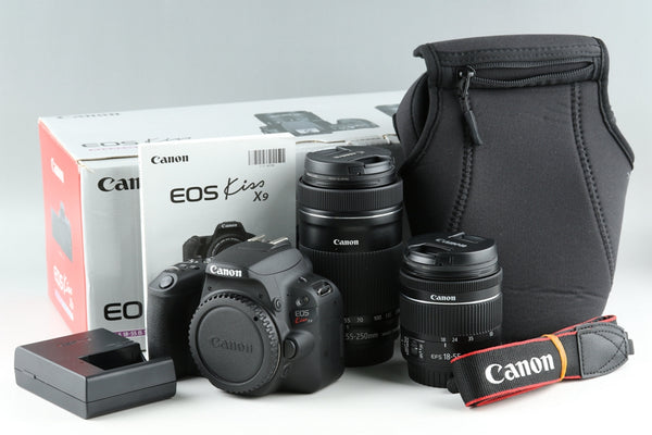 Canon EOS Kiss X9 + 55-250mm F/4-5.6 Lens + 18-55mm F/4-5.6 Lens Kit With Box #21659