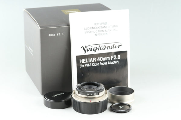Voigtlander Heliar 40mm F/2.8 Lens for VM-E Close Focus Adapter With Box #26039F1