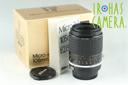 Nikon Micro-Nikkor 105mm F/2.8 Ais Lens With Box #18523E1