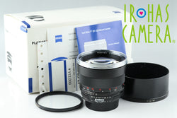 Carl Zeiss Planar T* 85mm F/1.4 ZF Lens for Nikon With Box #19139