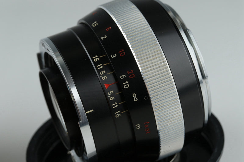 Carl Zeiss Planar 55mm F/1.4 Lens for Contarex #20135F2