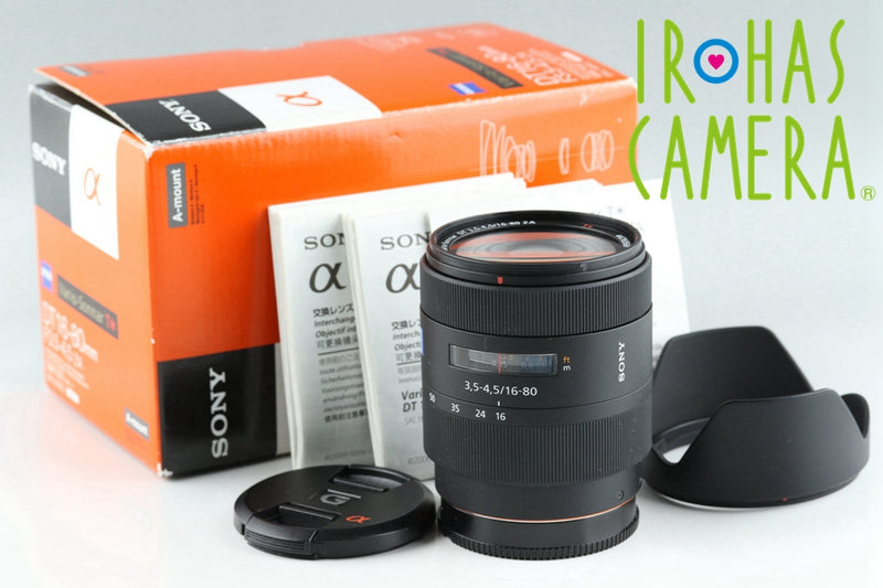 Sony Carl Zeiss Vario-Sonnar T* DT 16-80mm F/3.5-4.5 ZA Lens With Box #20141